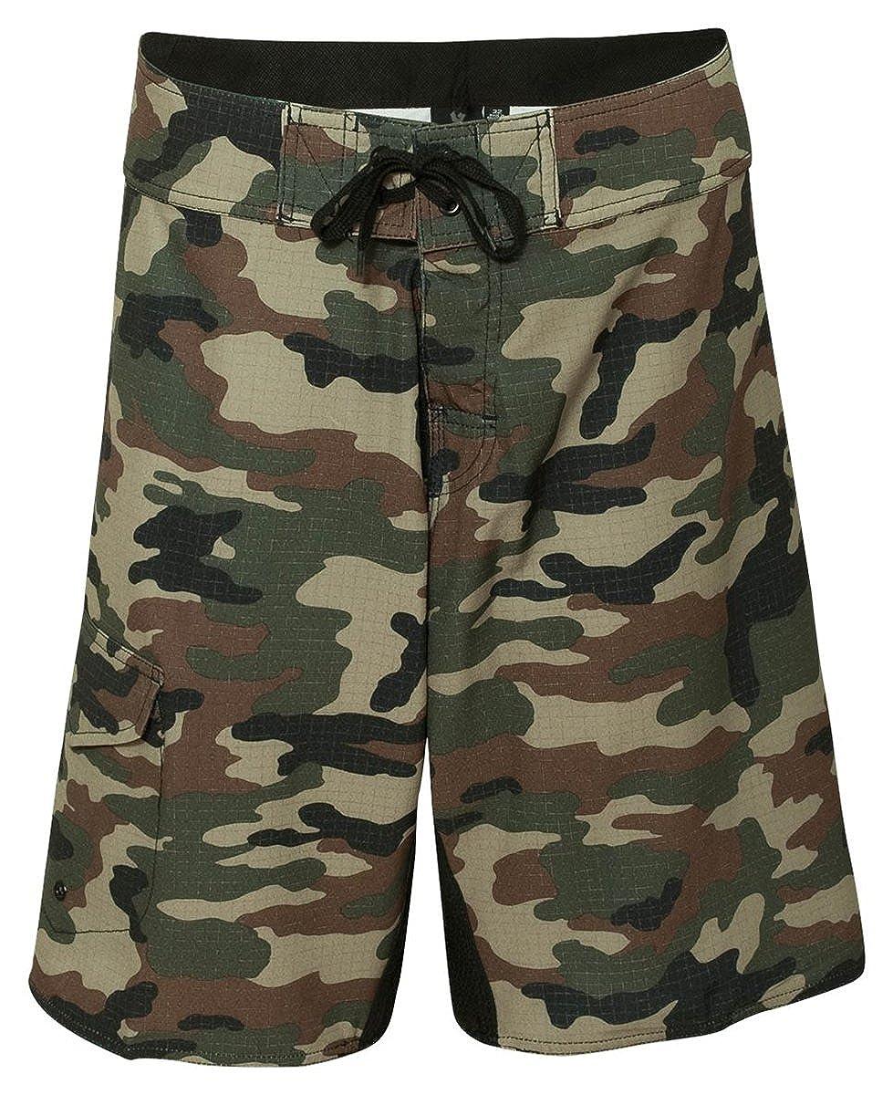 f309f03885 Amazon.com: Burnside Mens Camo-Diamond Dobby Board Shorts-B9371: Clothing