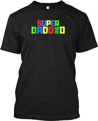 World Of Tees Super Daddio Shirt Funny Mario Dad Tee