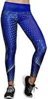 Haby Women's Sport High Waist Leggings with Designs Breathable Cool Fabric