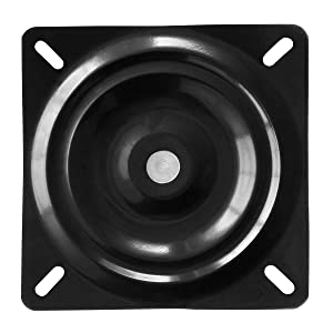 """MySit 8"""" Swivel Plate Mechanism for Recliner Chair & Bar Stool Square Swivel Furniture Replacement - Ball Bearing (SwivelPlate_8)"""