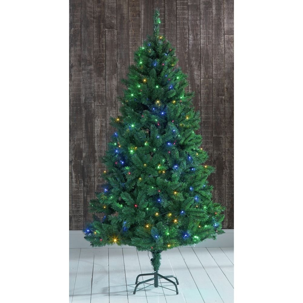 Heart of House 7ft Nordic Fir Colour Switch Christmas Tree - Green ...