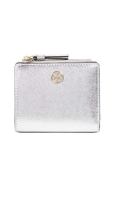 9c256266800c Amazon.com  Tory Burch Women s Robinson Metallic Mini Wallet