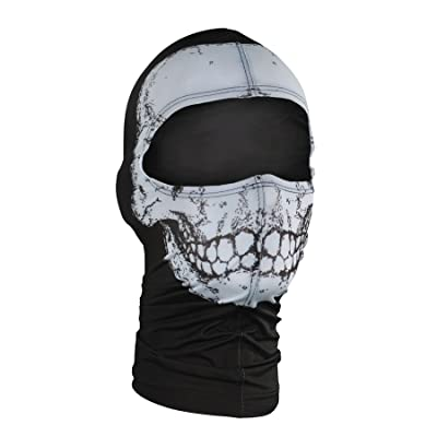 ZANheadgear Nylon 'Skull' Design Balaclava (Multicolor, One Size): Automotive