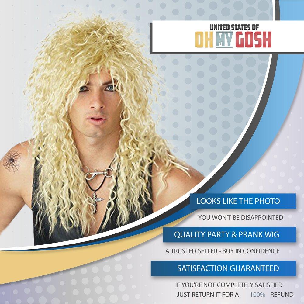 Rockstar Wig - Party Like A Rockstar - Rocker Costume (Blonde)