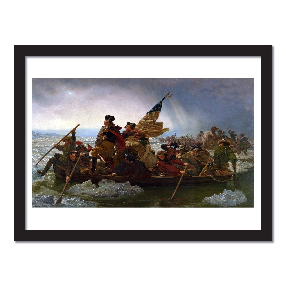 Young N Refined George Washington s Crossing of The Delaware River Extra Large Size high qulity Print Home Decor Huge Reproduction 24×36