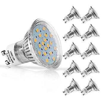 LOHAS® No-Regulable 3.5Watt GU10 LED Bombillas, Equivalente a 50Watt Lámpara Incandescente