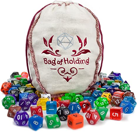 Wiz Dice Bag of Holding: Collection of 140 Dice