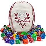 Wiz Dice Bag of Holding: Collection of 140 Polyhedral Dice in 20 Guaranteed Complete Sets for Tabletop Role-Playing Games – S