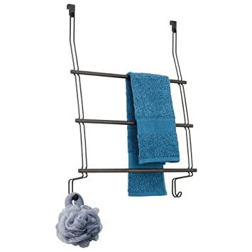 Amazoncom Interdesign Classico Over The Door Towel Rack With Hooks
