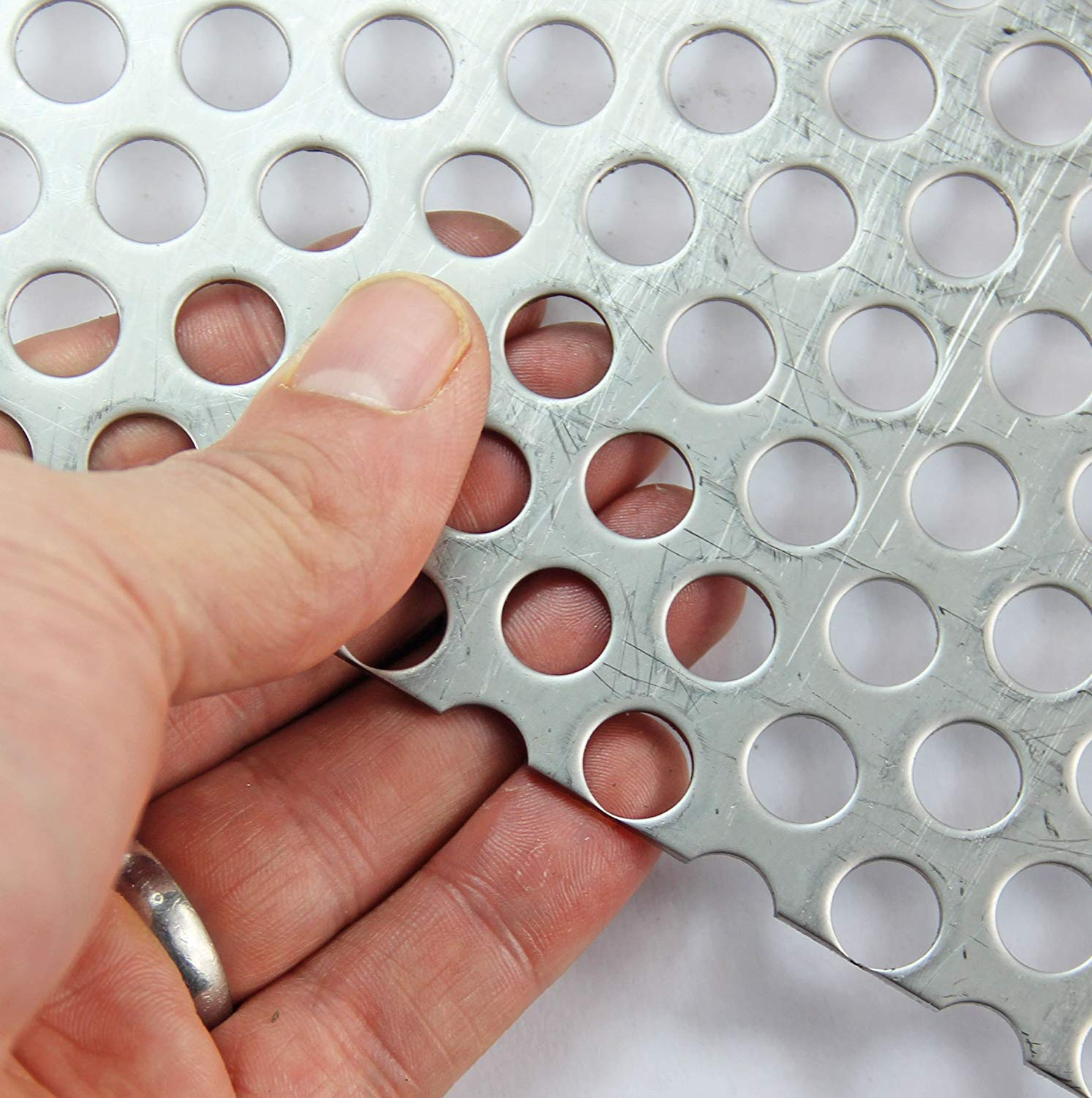 10mm Hole-15mm Pitch-2mm Thickness A3 Sheet 300 x 420mm Sheet Aluminium-Perforated Mesh Sheet-