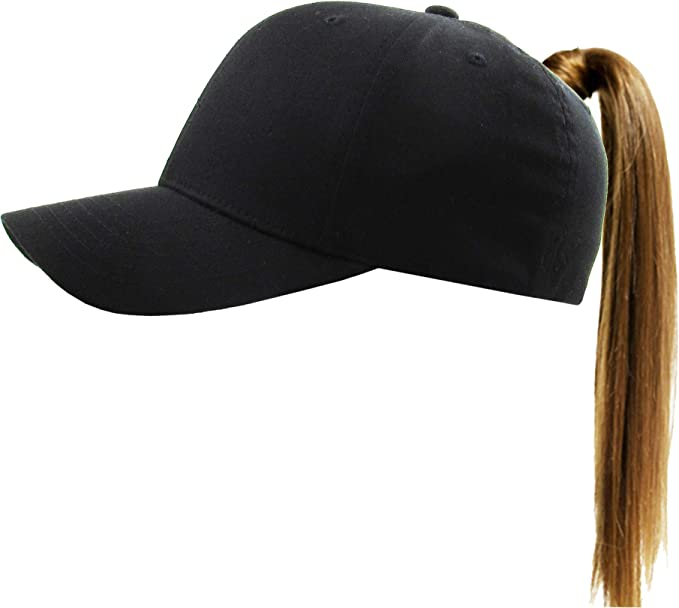 c7f768d9adce8 Pony-EZ FIT BLK S M Stretch Fit Ponytail Messy High Bun Headwear Adjustable