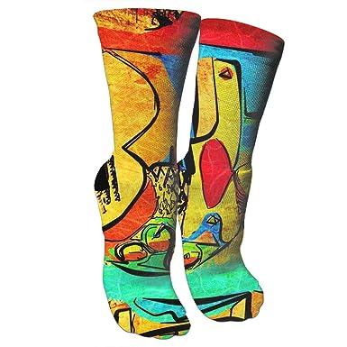Amazon.com: Picasso Crazy - Calcetines de baloncesto con ...