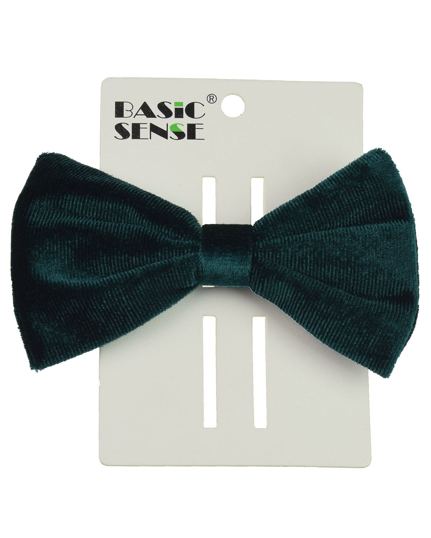 Premium Velvet Bow Ribbon Barrette Hair Clip, School Hairpin, Hair Accessory, 10cm, Black Basic Sense