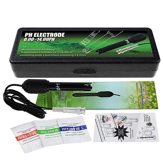 150 centimetri lungo cavo 0-14pH Sensor test elettrodo per PH Meter Monitor controller Sonda pH con connettore BNC