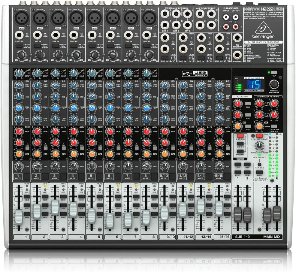 Behringer Xenyx X2222USB Premium 22-Input 2/2-Bus Mixer with USB/Audio Interface 716Za1POS2LSL1000_