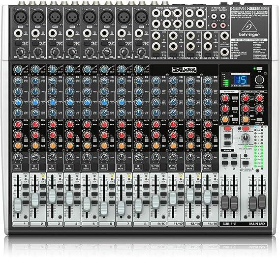 Behringer XENYX X2222USB mezclador DJ - Mezclador para DJ (24 Bit ...