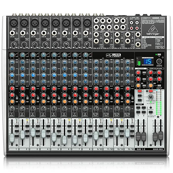 The Best Behringer Xenyx X1222usb Desktop Rack
