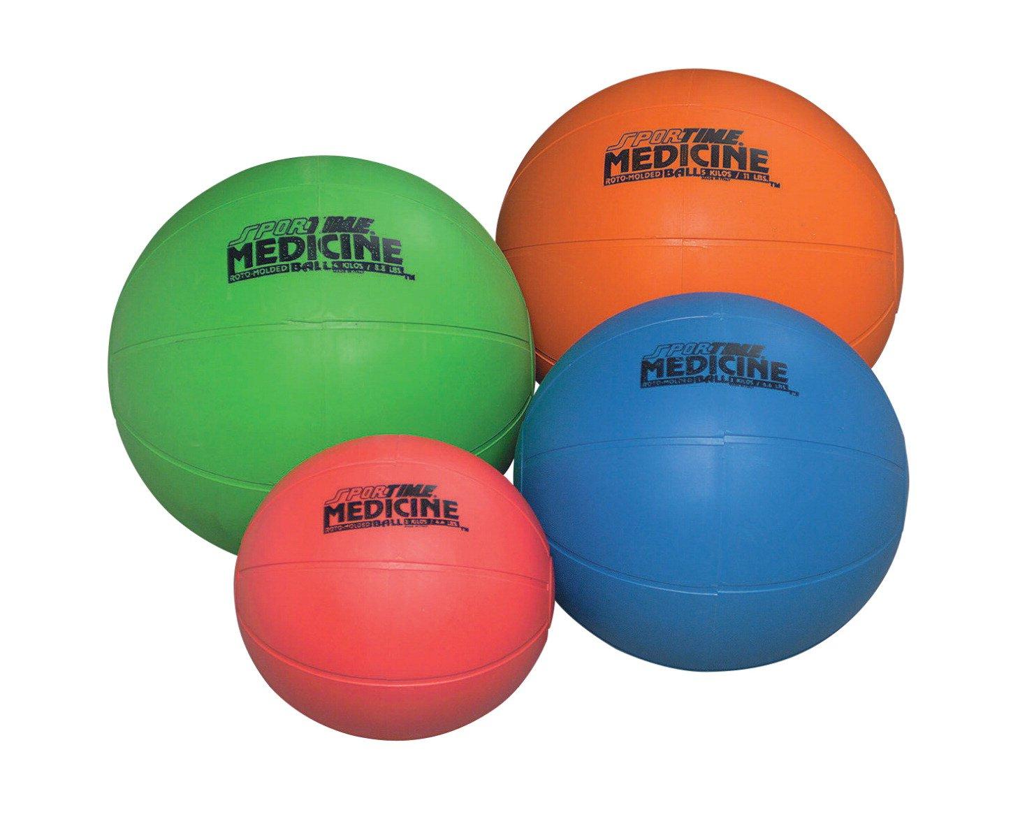 Sportime moldeado medicina y balón de entrenamiento, rojo, 7 - 1/2 ...