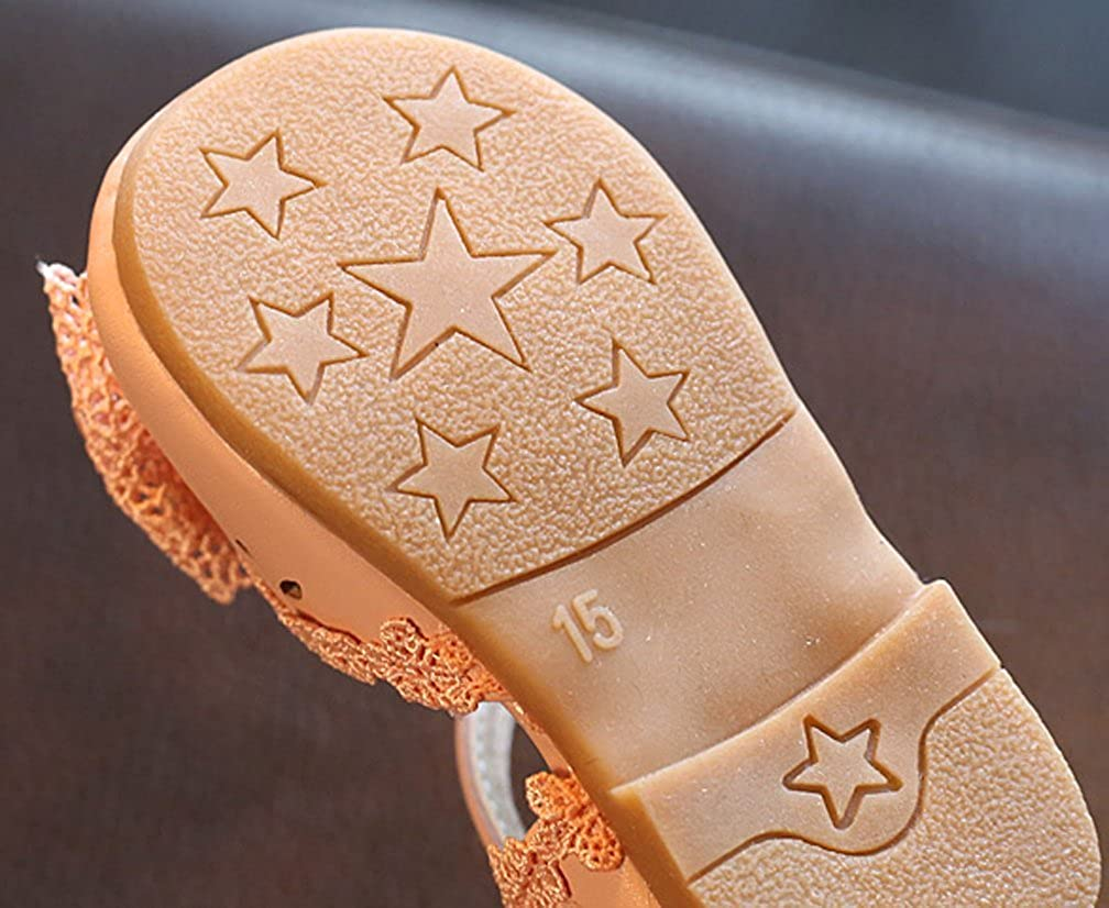 Cattior Toddler Summer Closed Toe Girls Sandals Casual Walking Shoes