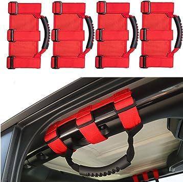 Black Pair Premium Roll Bar Grab Handle Handles Fits Jeep Wrangler CJ YJ TJ JK