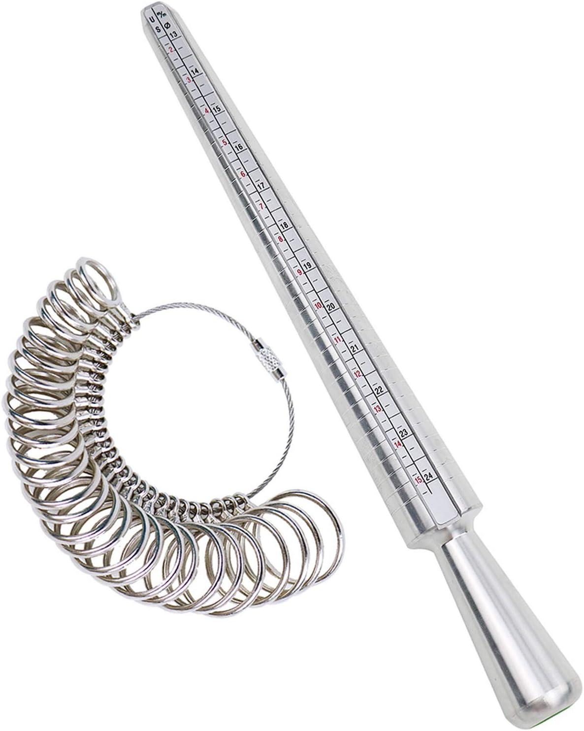UK Sizes Ring Gauge Sizer /& Finger Ring Mandrel Sizing Measuring Jewelry Size