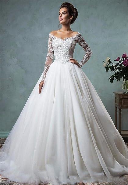 LUCKY-U Femme Robe de mariée Robe de marié