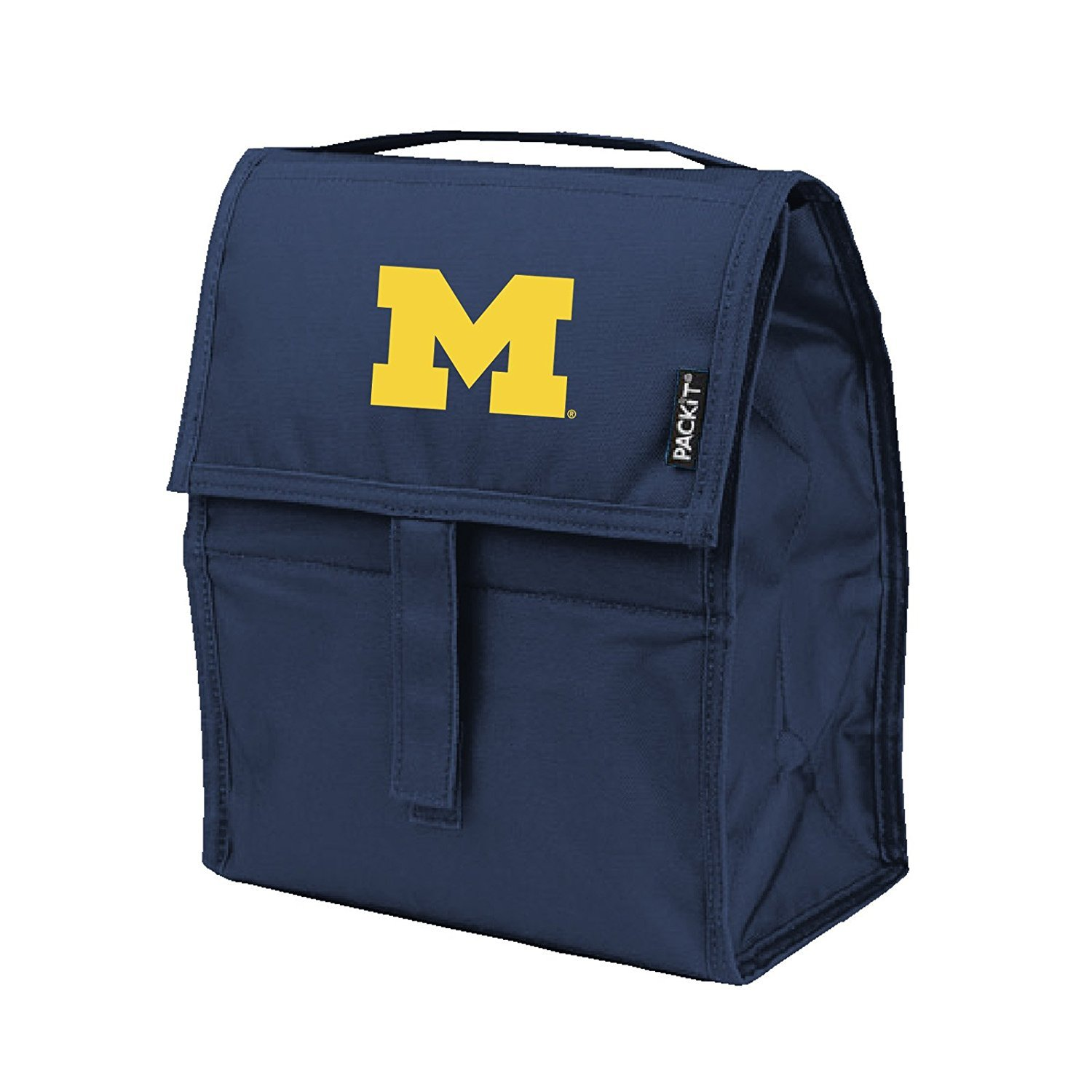NCAA Michigan Wolverines Packit Freezable Lunch Bag, Blue