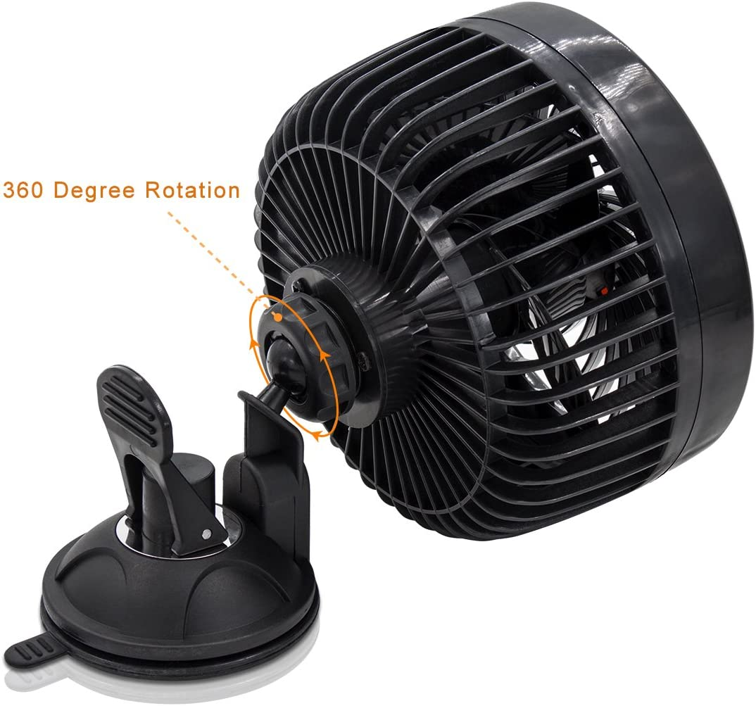 Xcellent Global 24V Car Fan Vehicle Fan Stepless Rotatable Summer Cooling Air Circulator AT031 24V