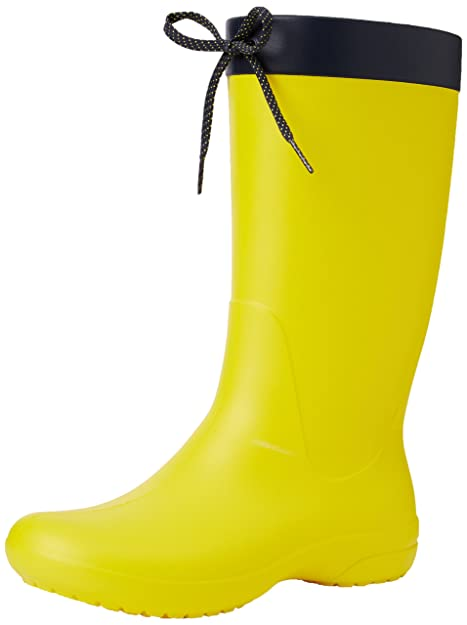 Crocs Freesail Shorty Rain Boots, Mujer Bota, Amarillo (Lemon), 36-37 EU