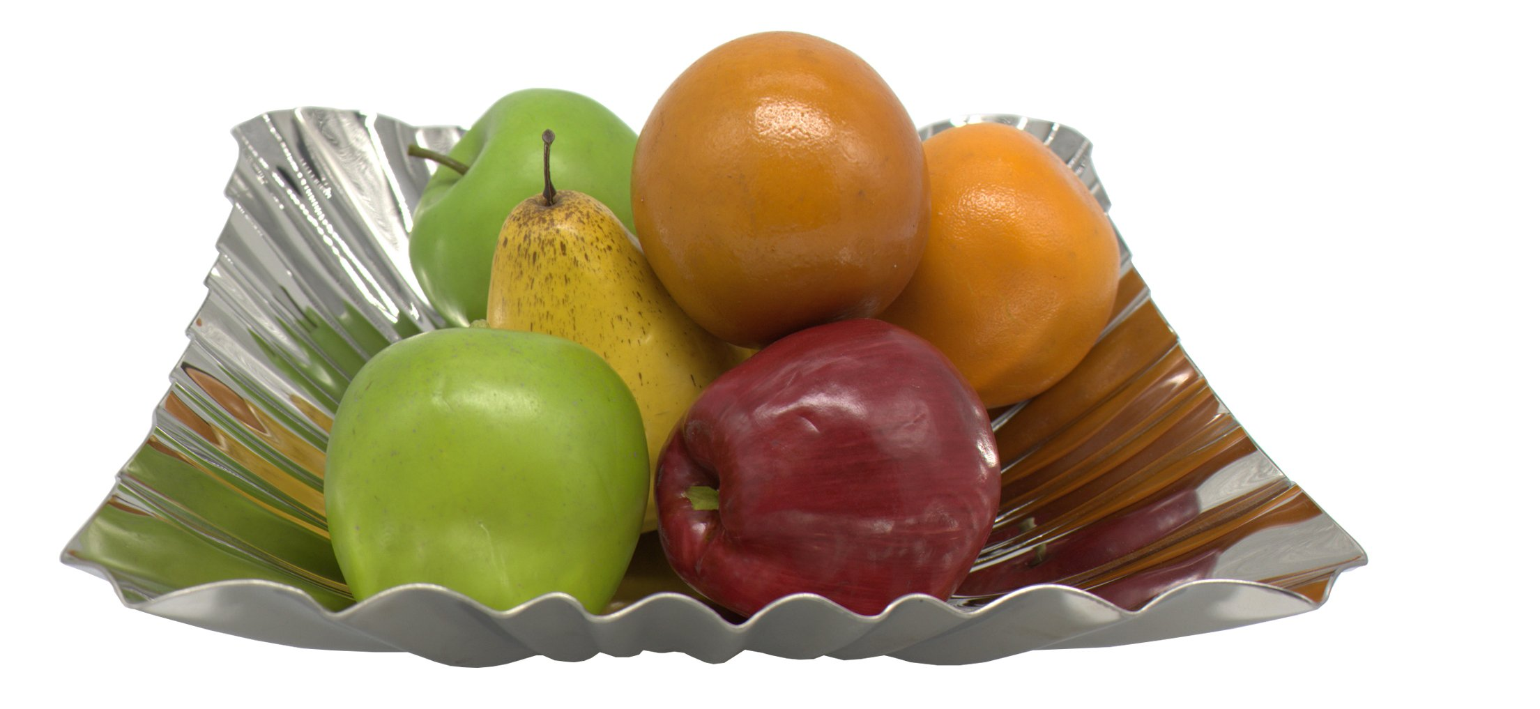 "Baohao stainless steel square hammer fruit salad plateV12  10.63''x10.63""x2.76''"