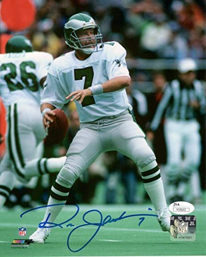 010de51564d Ron Jaworski quot 7 quot  Eagles White Jersey Signed Color 8x10 Photo  136734 - JSA Certified