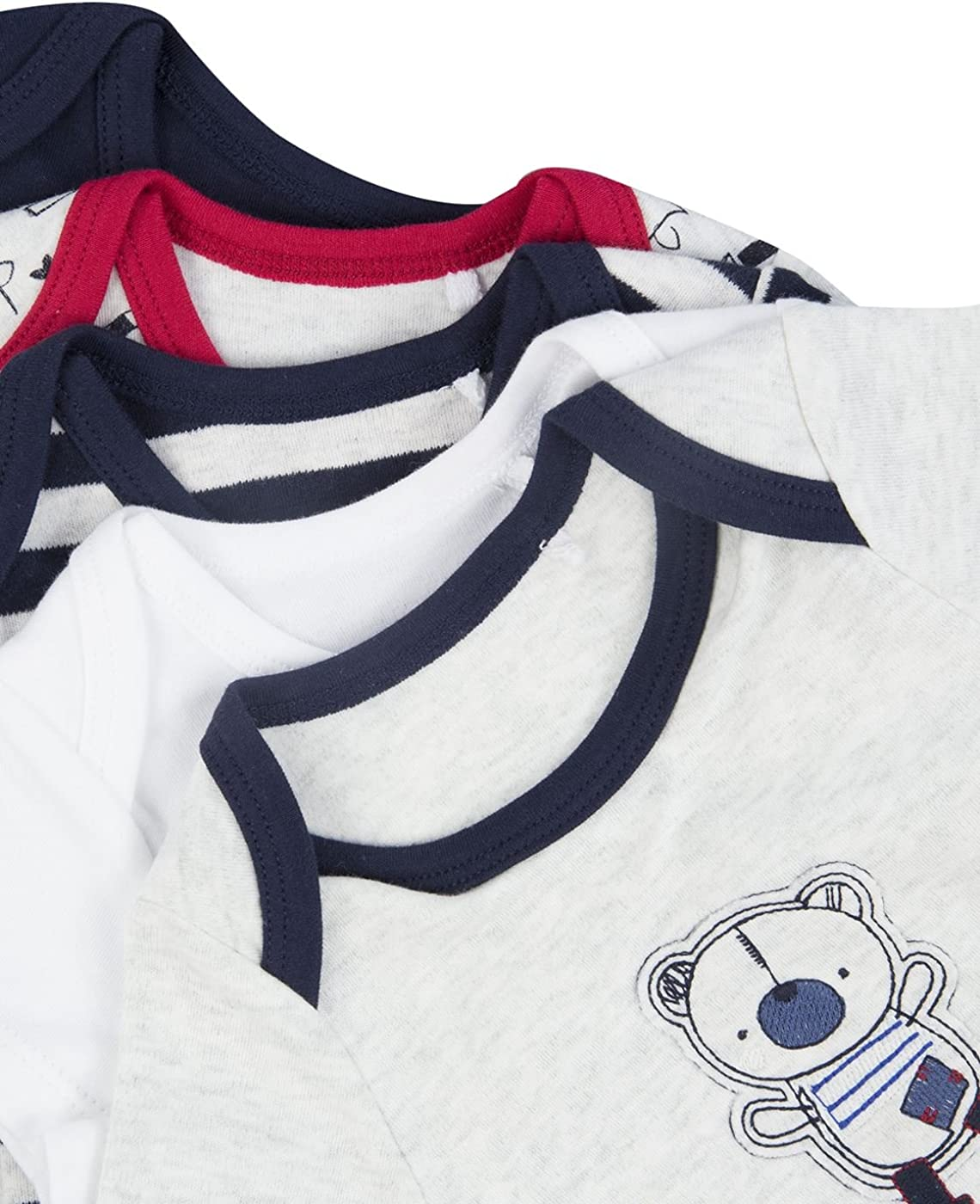 5 Pack The Essential One Baby Boys Beary Much Nautical Bodysuits