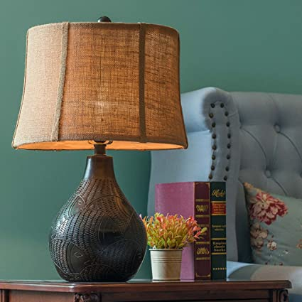 lámpara de escritorio Lámpara de mesa decorativa americana ...