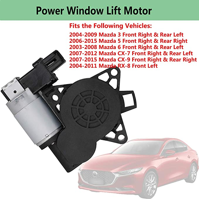 NovelBee 742-802 Power Window Lift Motor Replacement for Mazda ...