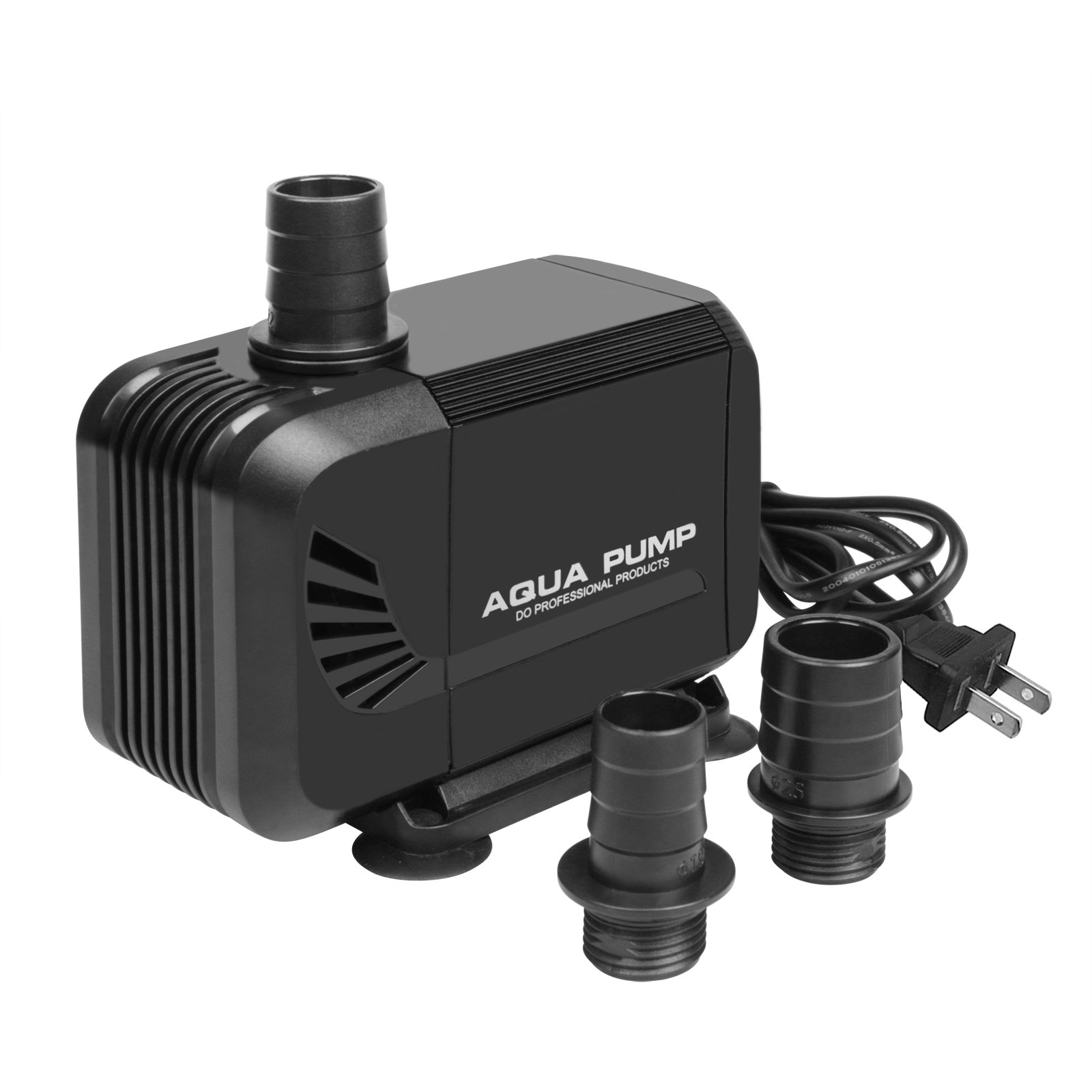 35W Submersible Water Pump 2500L/H 660GPH 8.2ft High Lift, Water Fountain with 4.5ft Power Cord, 3 Nozzles for Aquarium, Fish Tank, Pond, Water Scenario Decoration