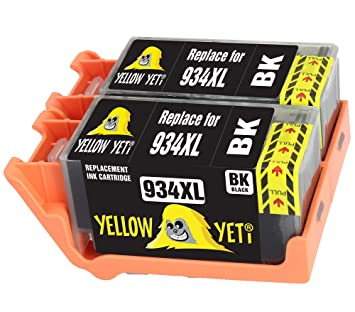 Yellow Yeti Reemplazo para HP 934 934XL C2P23AE 2 Cartuchos de ...