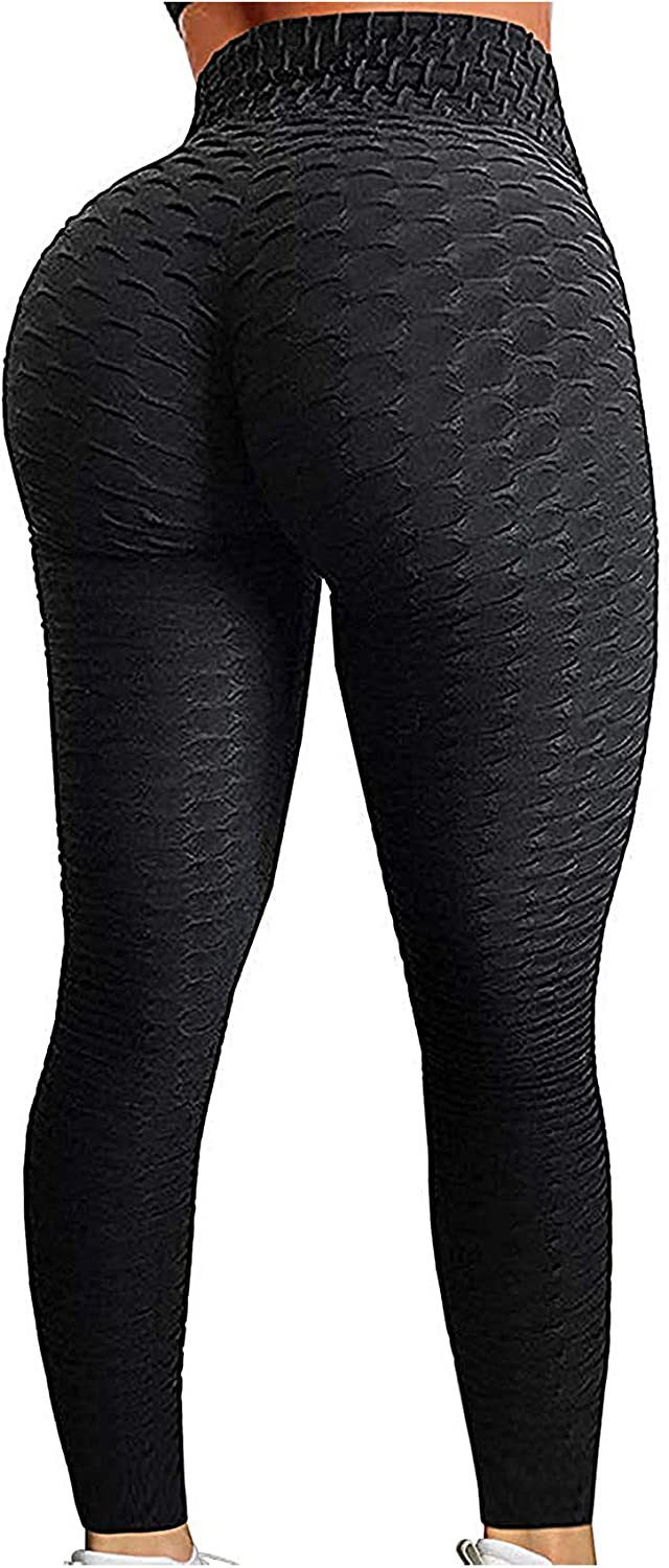 SEASUM Women's High Waist Yoga Pants Tummy Control Slimming Booty Leggings Workout Running Butt Lift Tights
