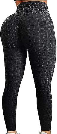 Women/'s Ruched High Waist Yoga Leggings Butt Lift Tummy Workout Pants Running