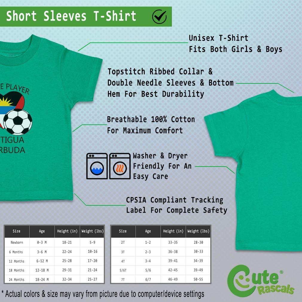Custom Baby /& Toddler T-Shirt Future Soccer Player Antigubarbuda Cotton