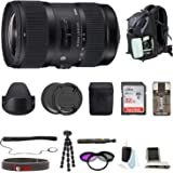 Sigma 18-35mm F1.8 DC HSM Zoom Lens for Canon DSLR Cameras with Accessory Bundle
