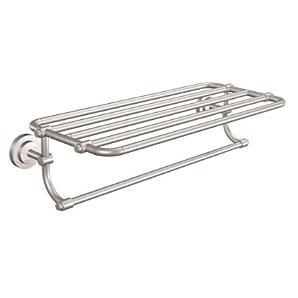 Delicieux Moen DN0794BN Iso Collection 24 Inch Wide Bathroom Hotel Style Shelf With  Towel Bar, Brushed Nickel   Mounted Bathroom Shelves   Amazon.com