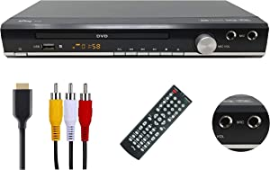 hPlay HD DVD, CD Multimedia Player, Multi Region Free, HDMI and RCA Output, USB Port, Microphone Vol Control & 2 Microphone Input(Microphone not Included), Top Metal casing