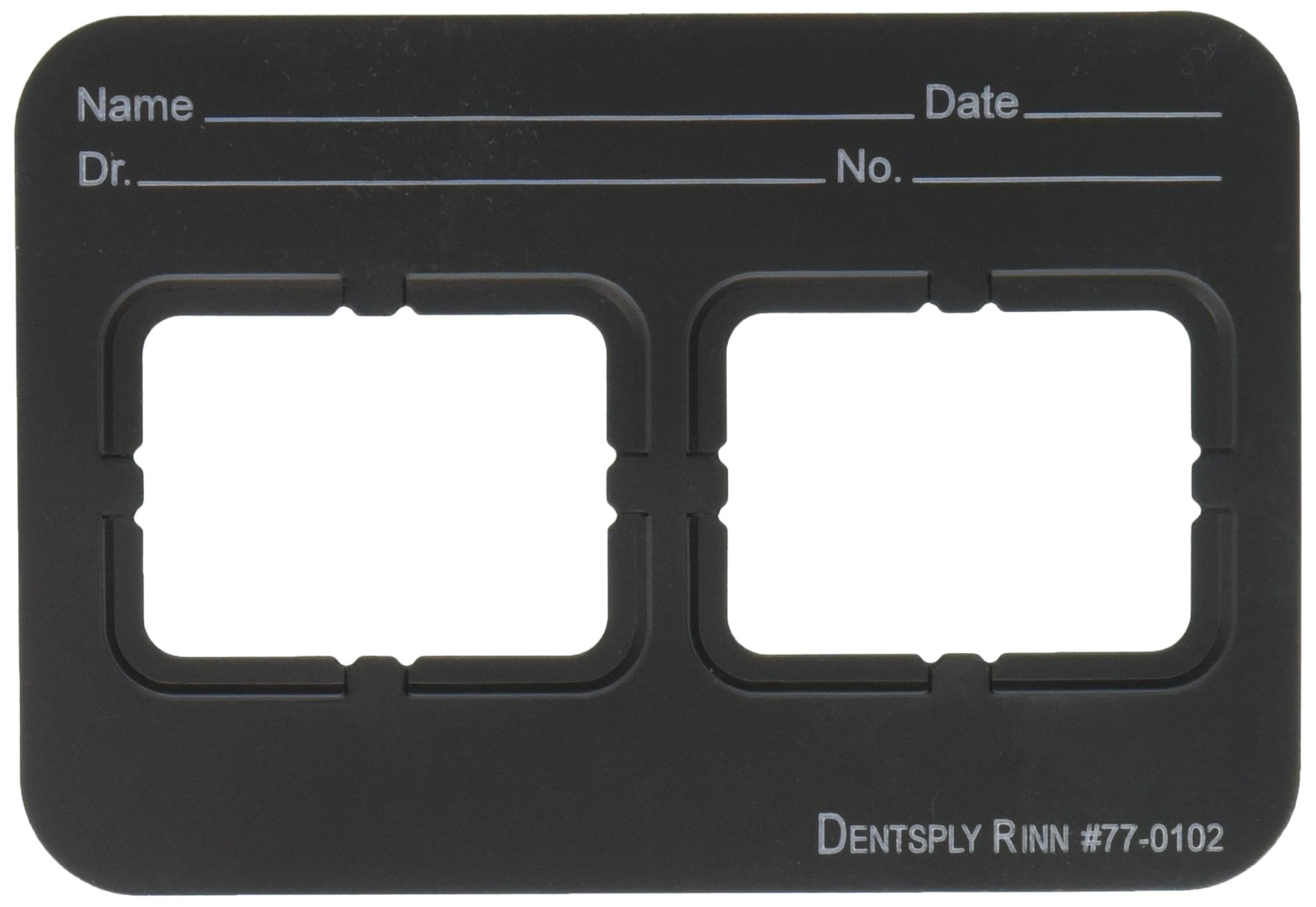 Dentsply 770102 Film Mount Charts 77 Series EZ-Tab Plastics, Black, Open Window, Vinyl, 2 2H (Pack of 100)
