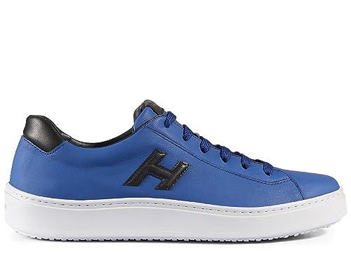 Hogan HXM3020W550ETV809A Herren Blau Leder Sneakers  Amazon.de ... 25a41051ed5