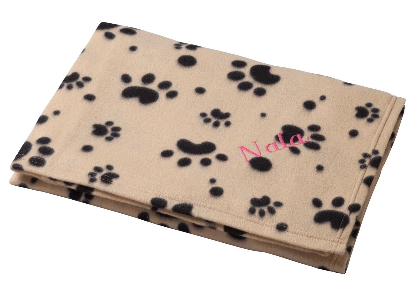 Miles Kimball Personalized Paw Print Pet Blanket