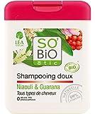 So'Bio Étic Shampooing Doux Niaouli et Guarana 250 ml Lot de 3