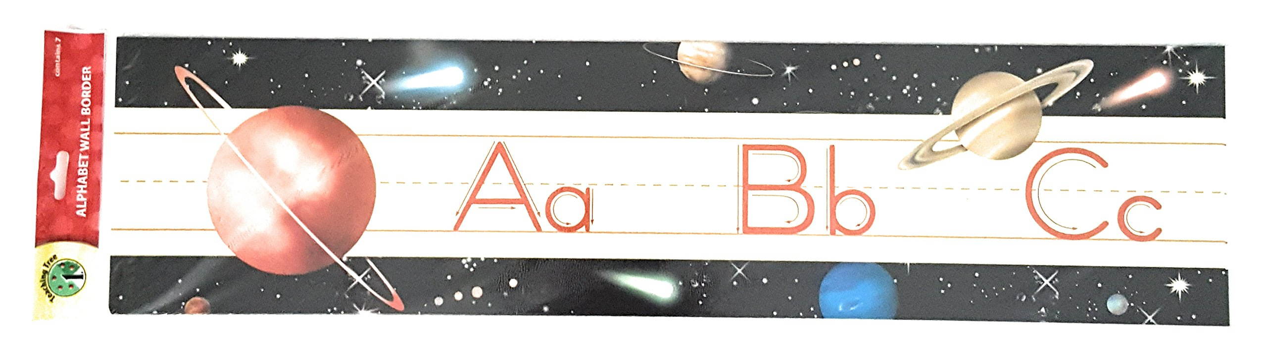 Teaching Tree Manuscript Alphabet Bulletin Back to School Board Creative Strips School Office Resources Scholastic Teacher Teacher's Bulletin Trim Wall Border Decal Classroom Decoration Planets/Space