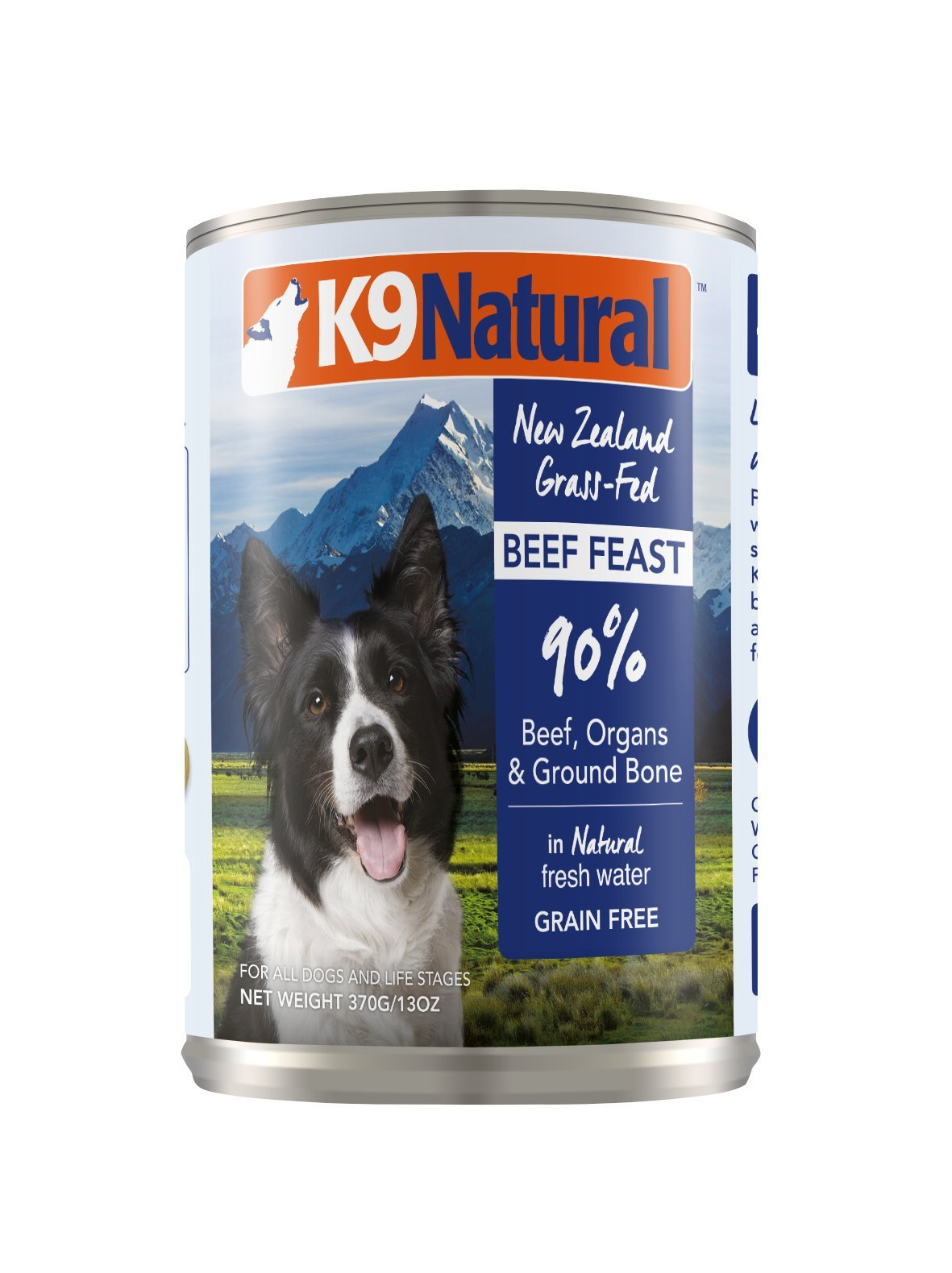 K9 Natural BPA-Free & Gelatin-Free Canned Dog Food, Beef 13oz 12 Pack by K9 Natural
