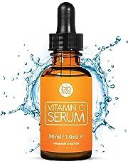 Das beste Vitamin C Serum für Ihr Gesicht mit 20% Vitamin C + Hyaluronsäure + Vitamin E + Jojobaöl. Natürliche AntiAging + Anti Falten + Bio Kollagen Booster Gesichtsserum mit organischen Inhaltsstoffen. Ideal für den Einsatz mit einer Derma Roller. (30 ml)