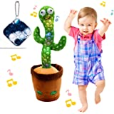"""Dancing Cactus Toy, BLUELAND Electric, Shaking, Recording, Singing, Talking toys, """"Repeat your speech"""" Plush Stuffed…"""